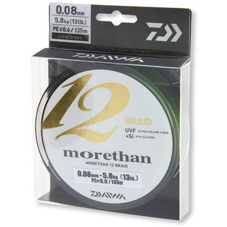 Fir Daiwa Morethan 12 Braid 0.08mm 5,8kg 135m