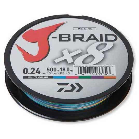 Fir Daiwa J-Braid x8 multicolor 0.18mm/12kg/150m