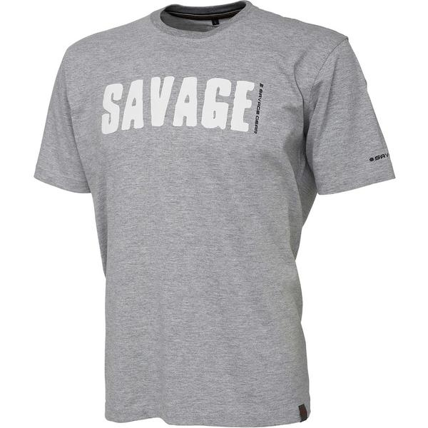 Tricou Savage Gear Simply Light Grey Marimea XL