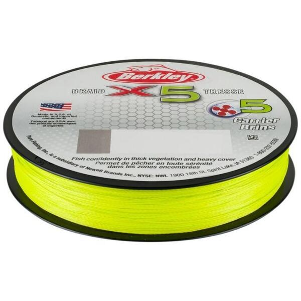 Fir Berkley X5 Fluo Verde 0.12mm 12.00kg 150m