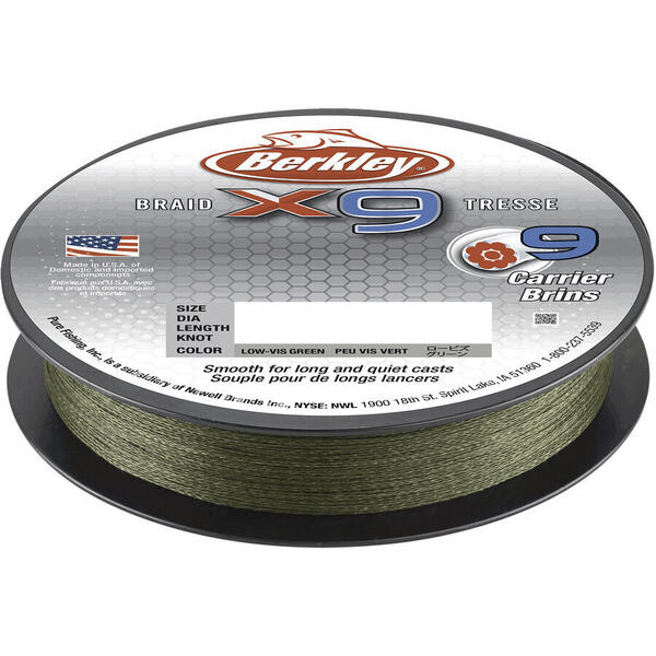 Fir Berkley Textil X9 Low Vis Verde 0.20mm 20.6kg 150m