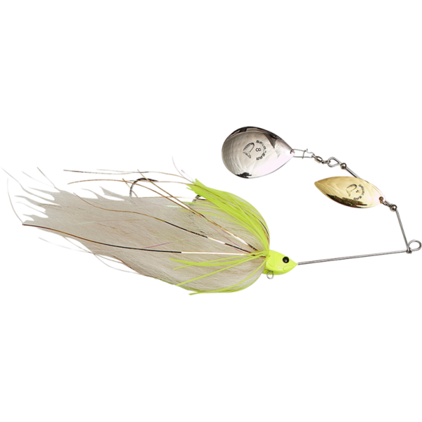Spinnerbait Savage Gear Da Mega Bush Nr.8 55g White Chartreusse