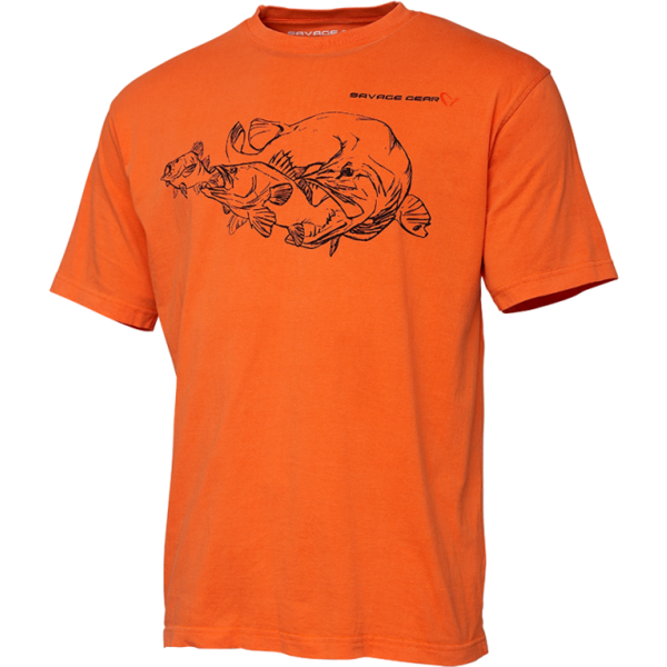 Tricou Savage Gear Cannibal Ink Orange Marimea M