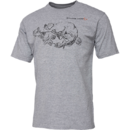 Tricou Savage Gear Cannibal Ink Grey Melange Marimea M