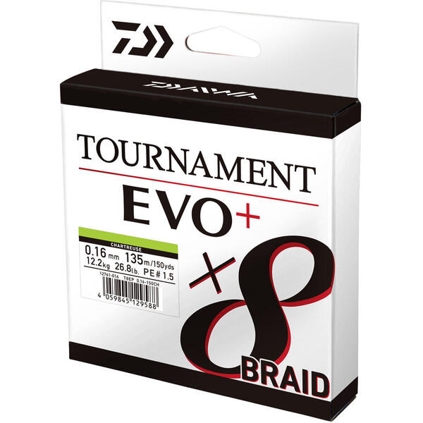 Fir Daiwa Tournament  8X Braid Evo+ Verde 0.12mm 8.6kg 135m