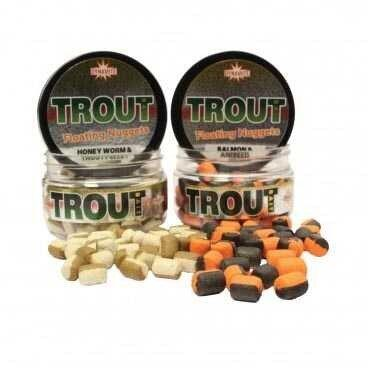 Dynamite  Baits Two Tone Floating Nugget Aniseed / Salmon