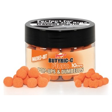 Dynamite  Baits Butyric C Fluro Washed Outs Pop Ups 10Mm Boilies And Dumbells  Cutie